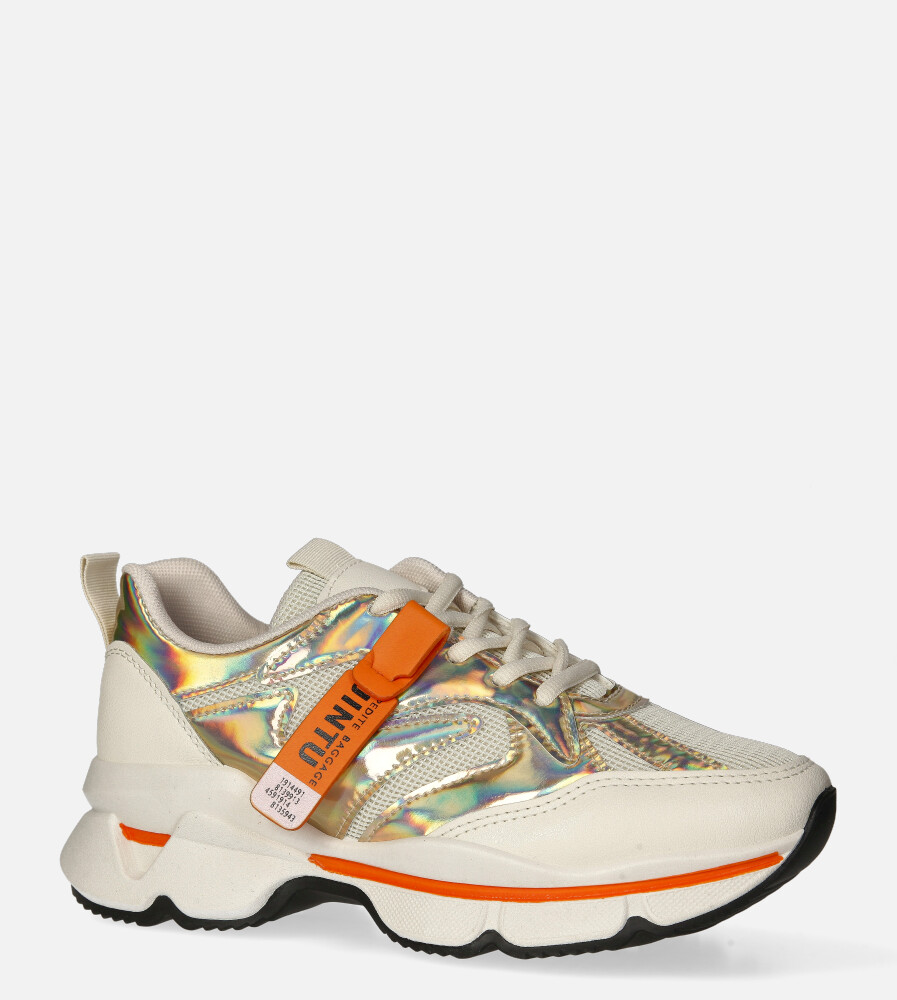 Białe buty sportowe sneakersy sznurowane Casu 20G18/G biały