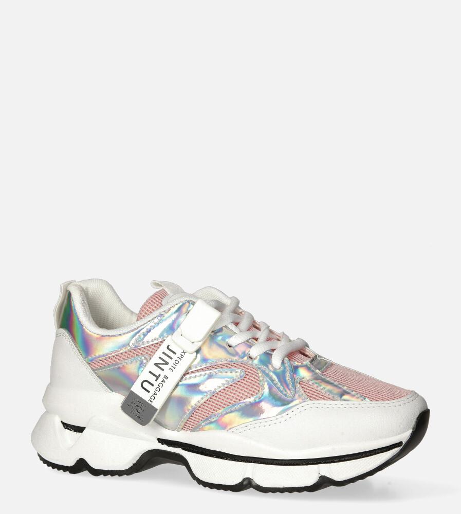 Białe buty sportowe sneakersy sznurowane Casu 20G18/P biały