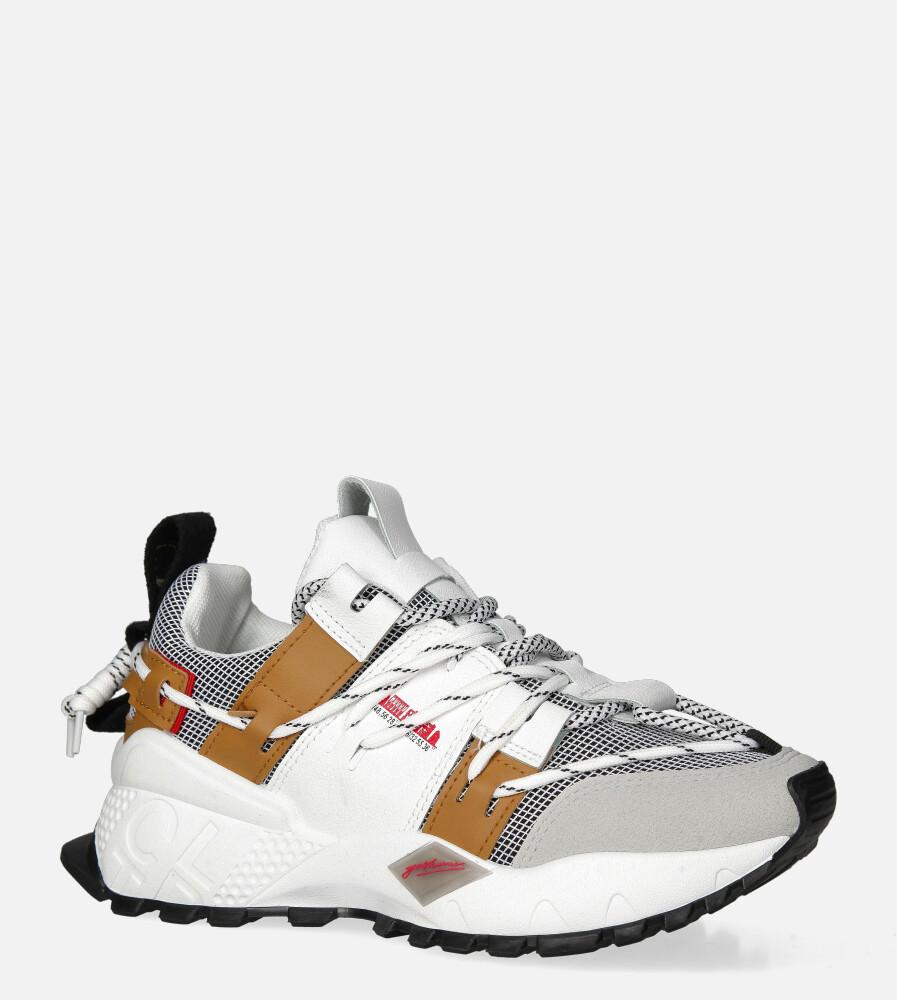 Białe buty sportowe sneakersy sznurowane Casu 20G2/G biały