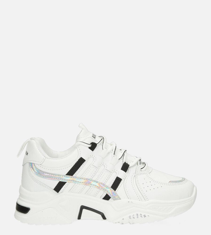 Białe buty sportowe sneakersy sznurowane Casu 20H1/W biały