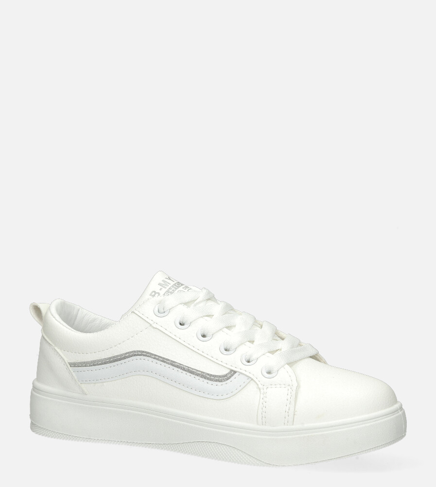 Białe buty sportowe sneakersy sznurowane Casu 20P11/W biały
