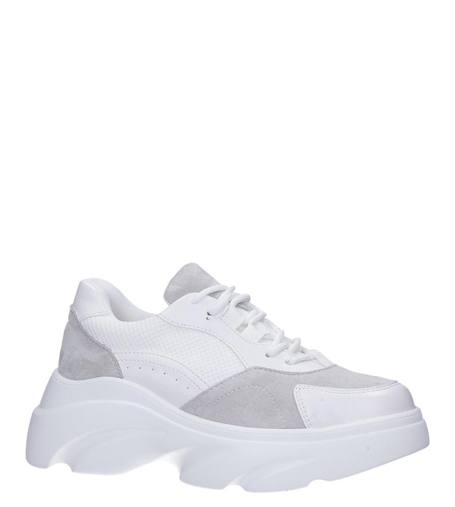 Białe buty sportowe sneakersy sznurowane Casu biały