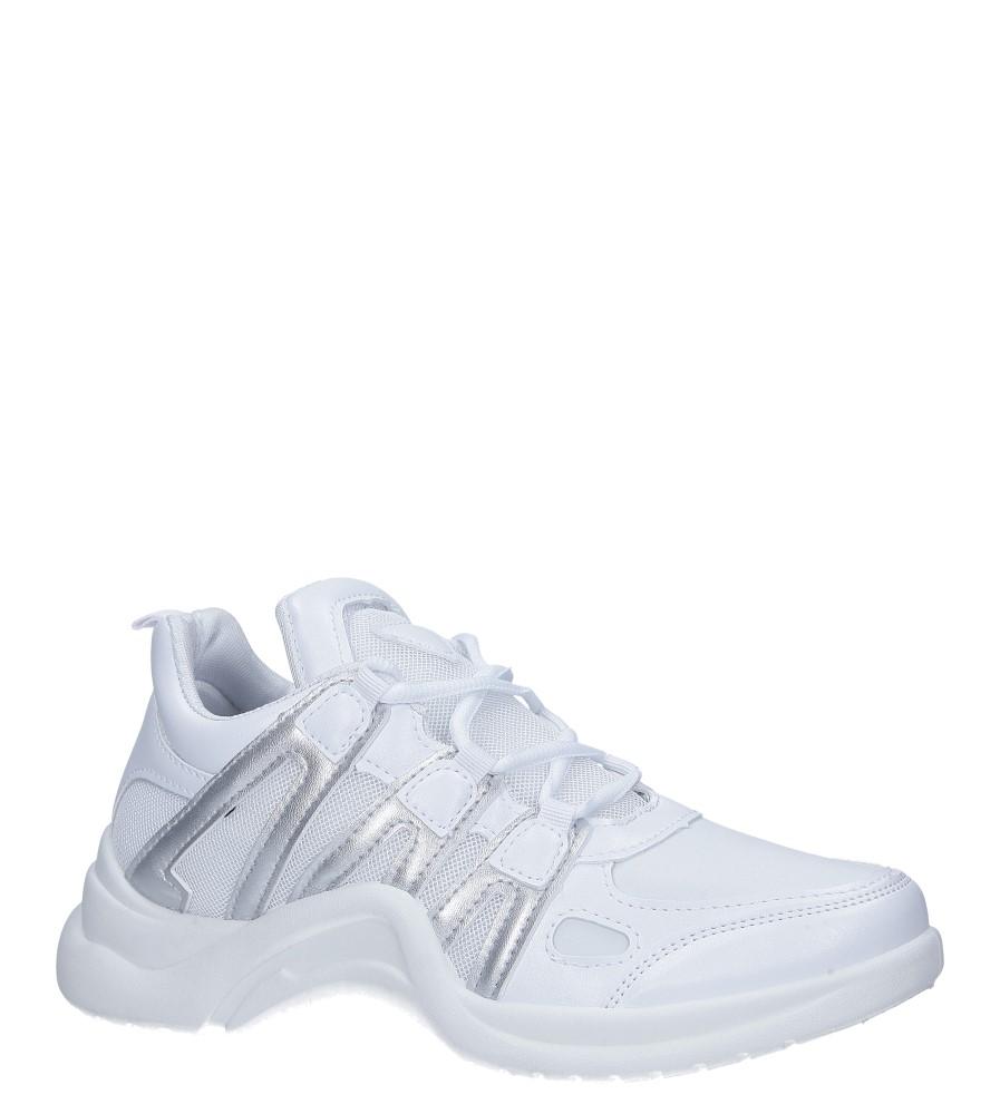 Białe buty sportowe sneakersy sznurowane Casu 7-K573C biały