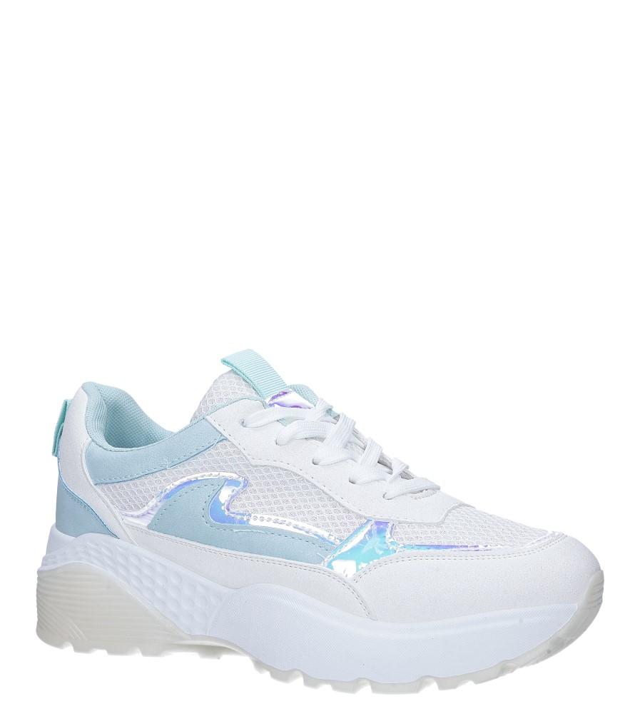 Białe buty sportowe sneakersy sznurowane Casu 7-K662C