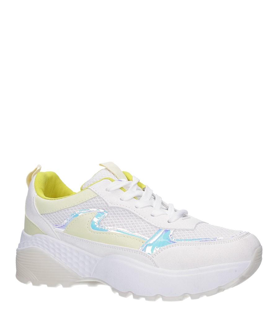 Białe buty sportowe sneakersy sznurowane Casu 7-K662D biały