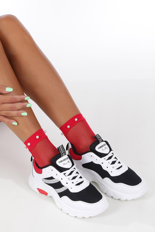 Białe buty sportowe sneakersy sznurowane Casu 702 producent Casu