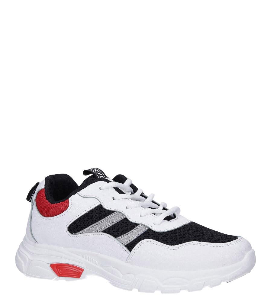 Białe buty sportowe sneakersy sznurowane Casu 702