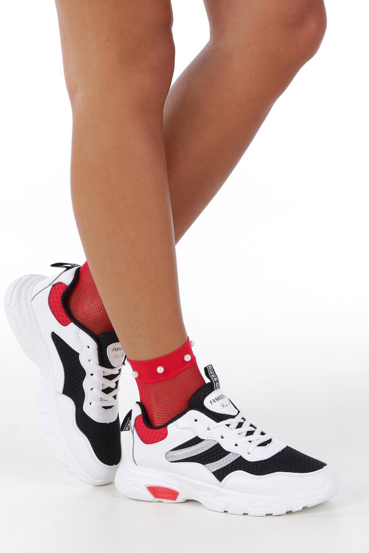 Białe buty sportowe sneakersy sznurowane Casu 702 sezon Całoroczny
