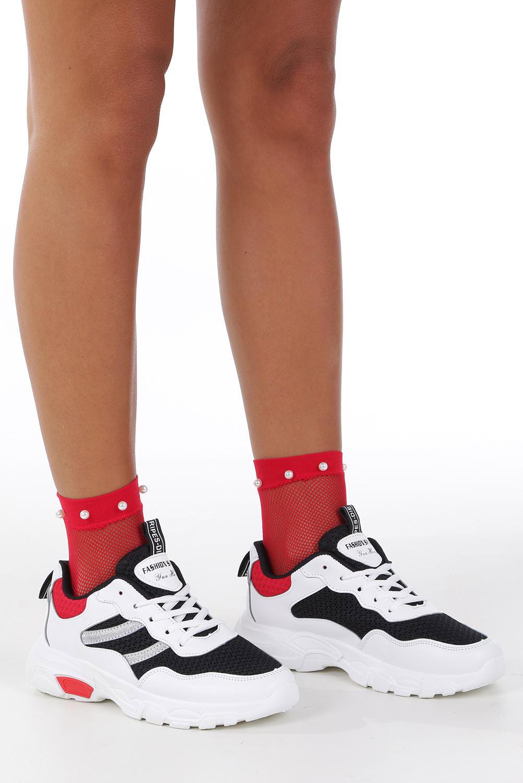 Białe buty sportowe sneakersy sznurowane Casu 702 kolor biały