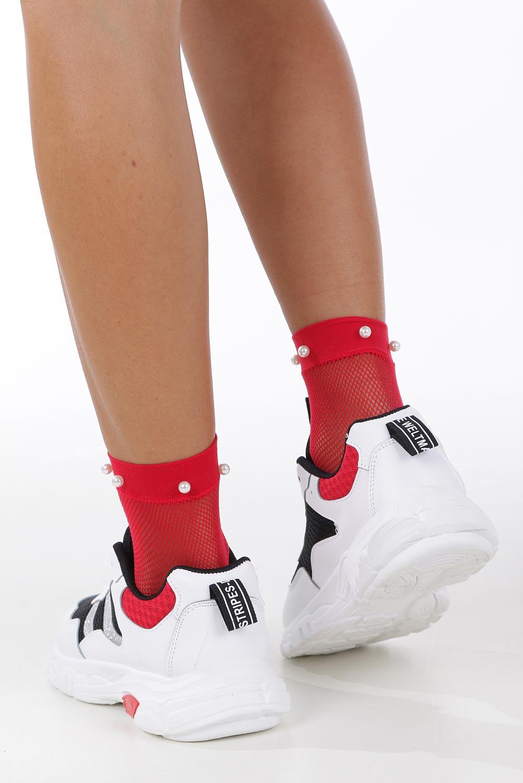 Białe buty sportowe sneakersy sznurowane Casu 702 wysokosc_platformy 1.5 cm