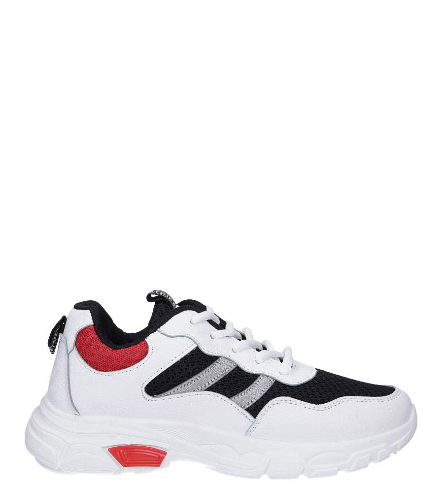 Białe buty sportowe sneakersy sznurowane Casu 702 wys_calkowita_buta 13 cm