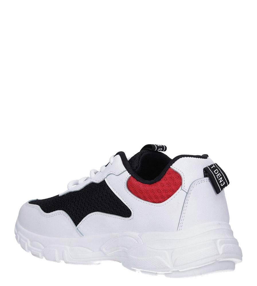 Białe buty sportowe sneakersy sznurowane Casu 702 wierzch materiał/skóra ekologiczna