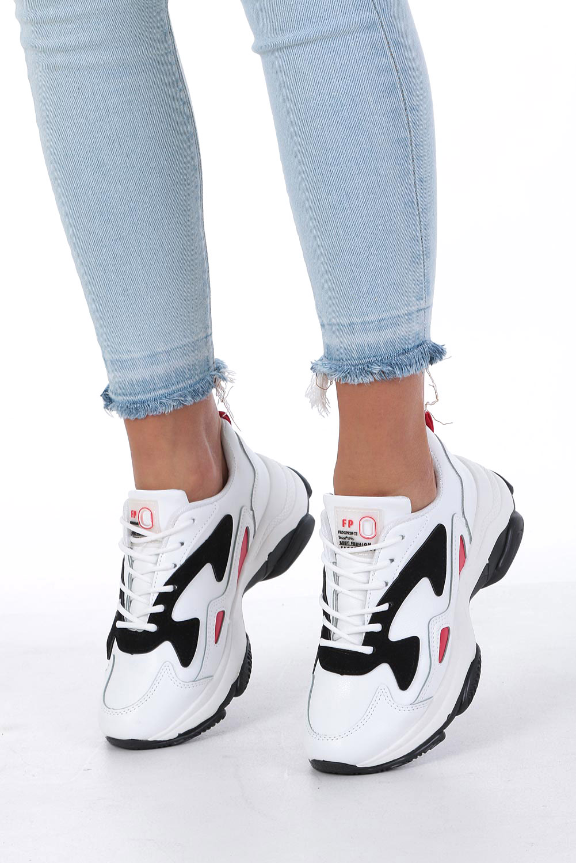 Białe buty sportowe sneakersy sznurowane Casu DS13003 biały