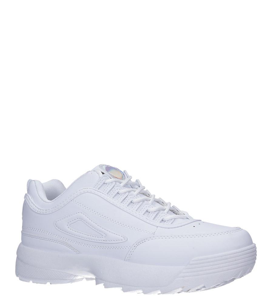 Białe buty sportowe sneakersy sznurowane Casu F6-8 biały
