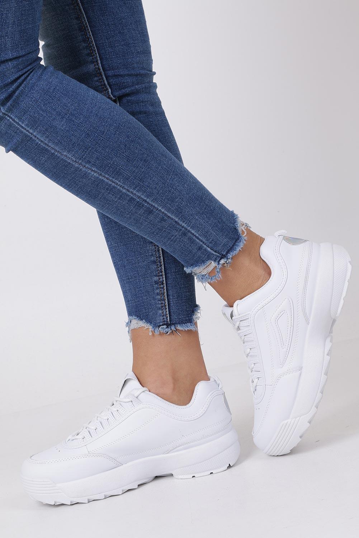 6ad24bb0 Buty Białe buty sportowe sneakersy sznurowane Casu F6-8 - Sklep Casu.pl