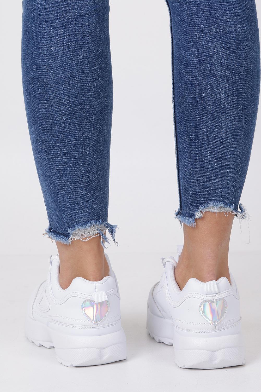 2c890bec ... biały; Białe buty sportowe sneakersy sznurowane Casu F6-8  wysokosc_obcasa 3.5 cm ...