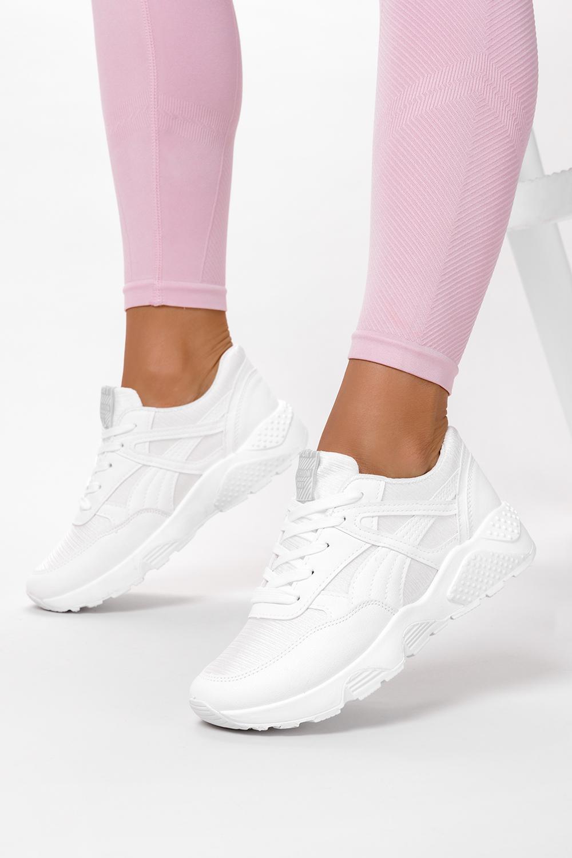Białe buty sportowe sneakersy sznurowane Casu WL-9