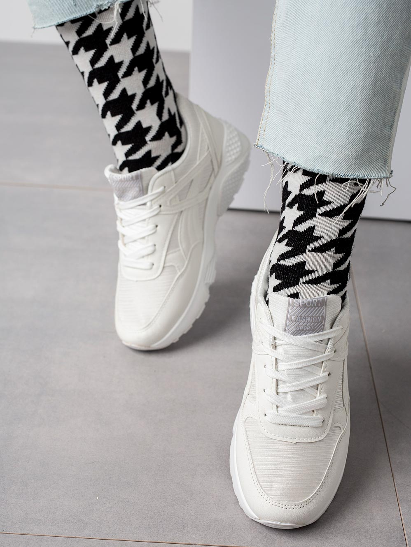 Białe buty sportowe sneakersy sznurowane Casu WL-9 biały