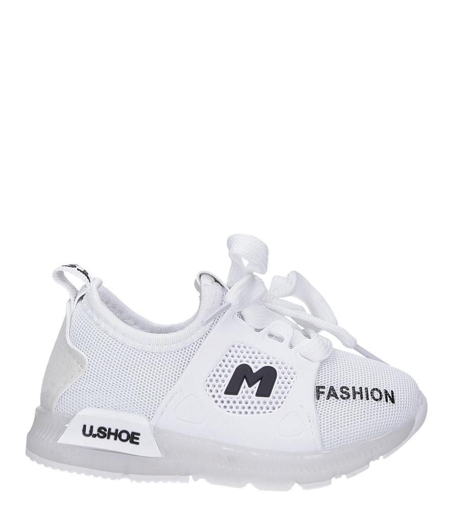Białe buty sportowe sznurowane Casu 332