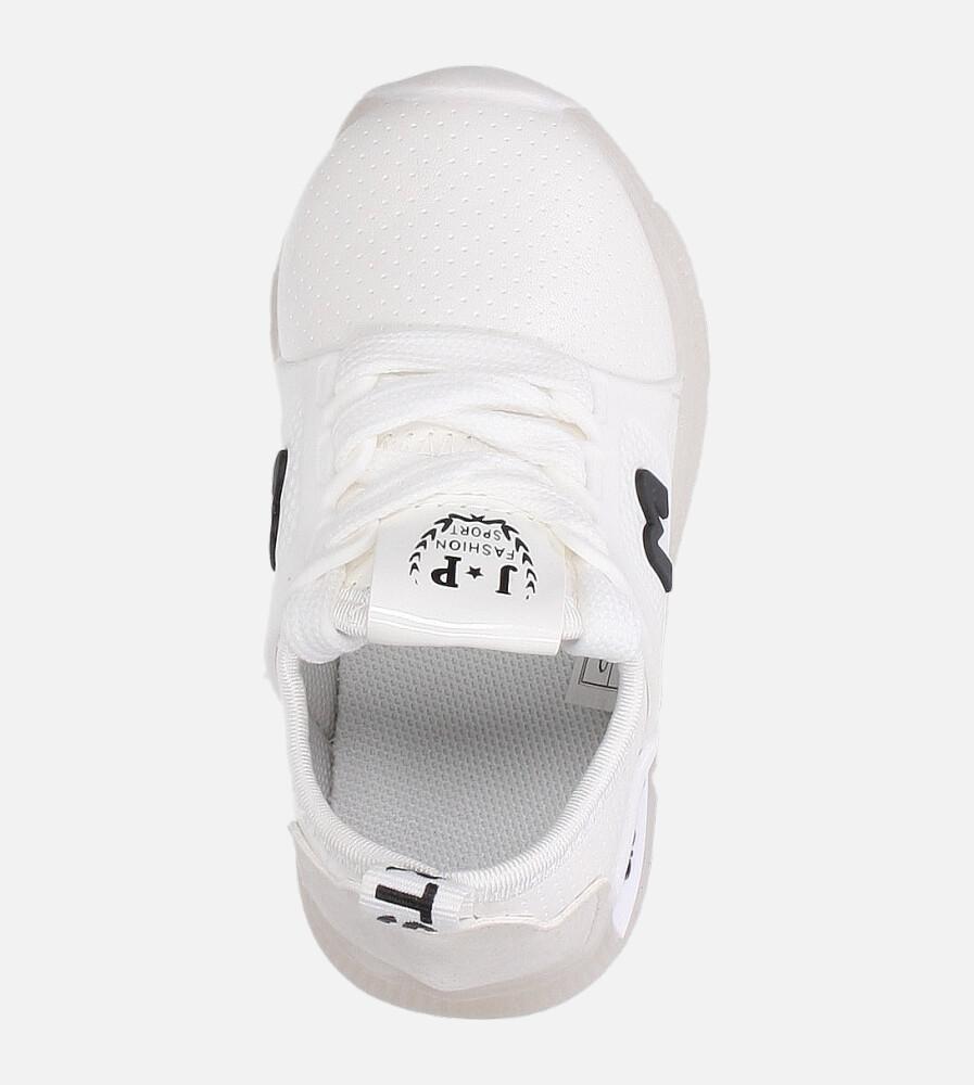 Białe buty sportowe świecące led sznurowane Casu B331 biały