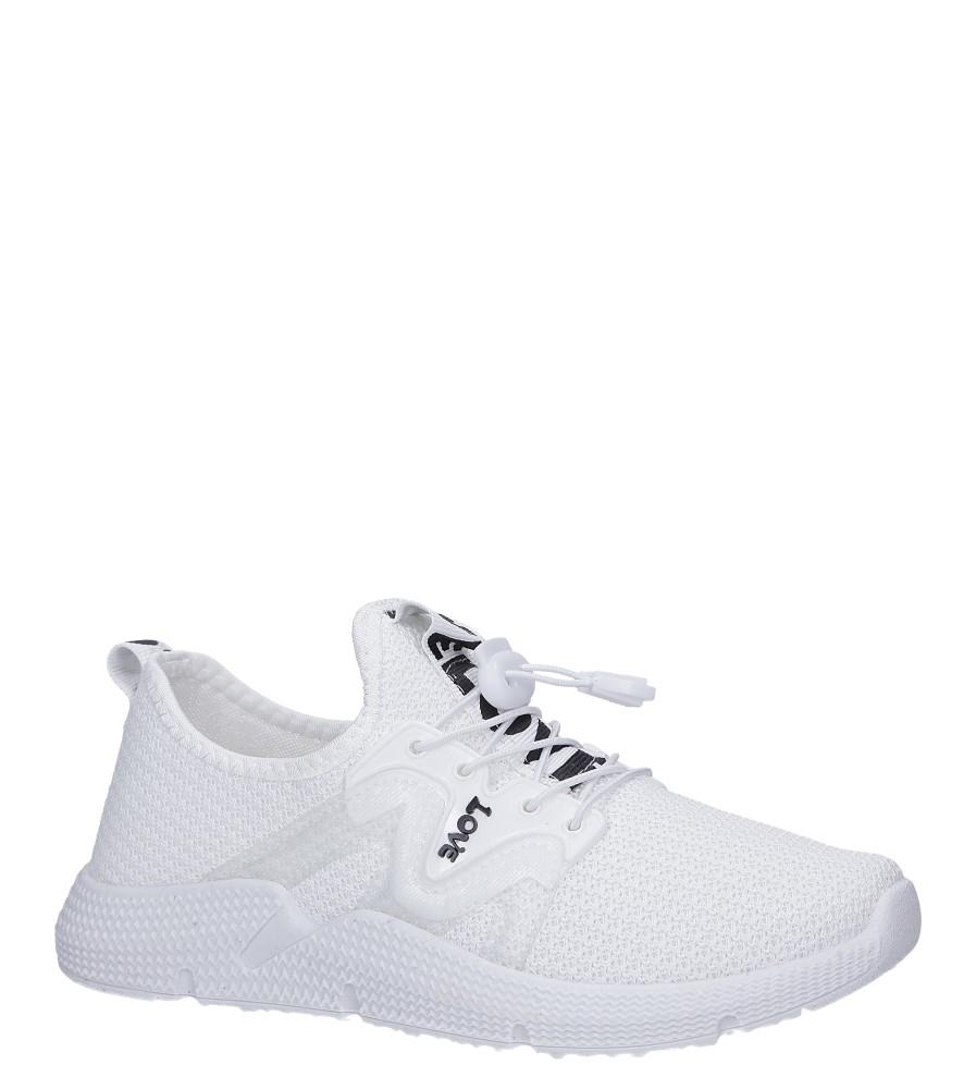 Białe buty sportowe sznurowane Casu 122A producent Casu