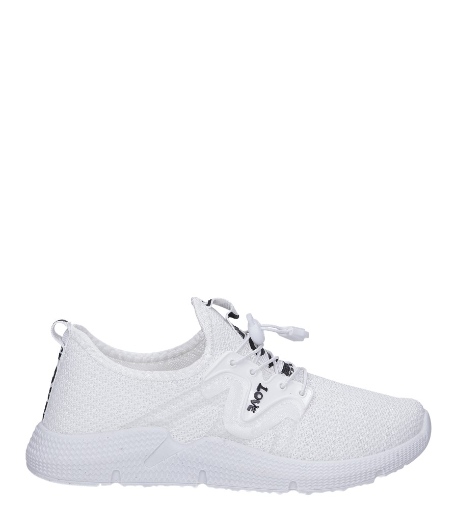 Białe buty sportowe sznurowane Casu 122A