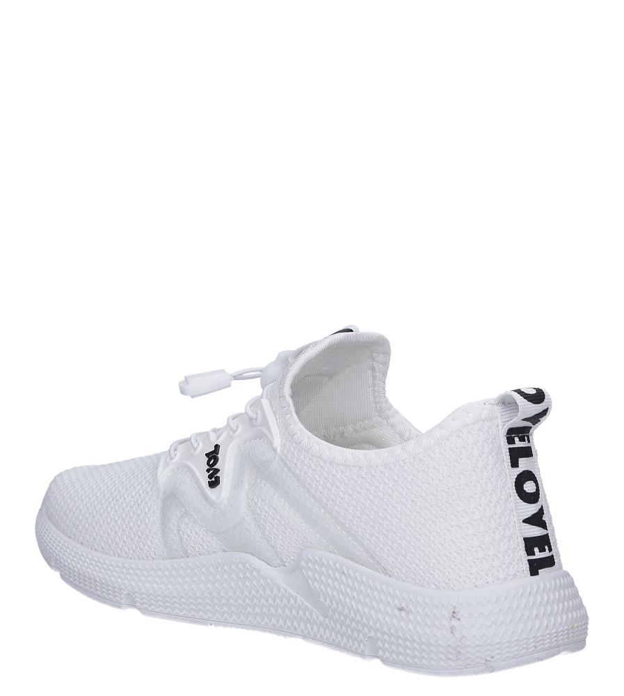 Białe buty sportowe sznurowane Casu 122A sezon Całoroczny