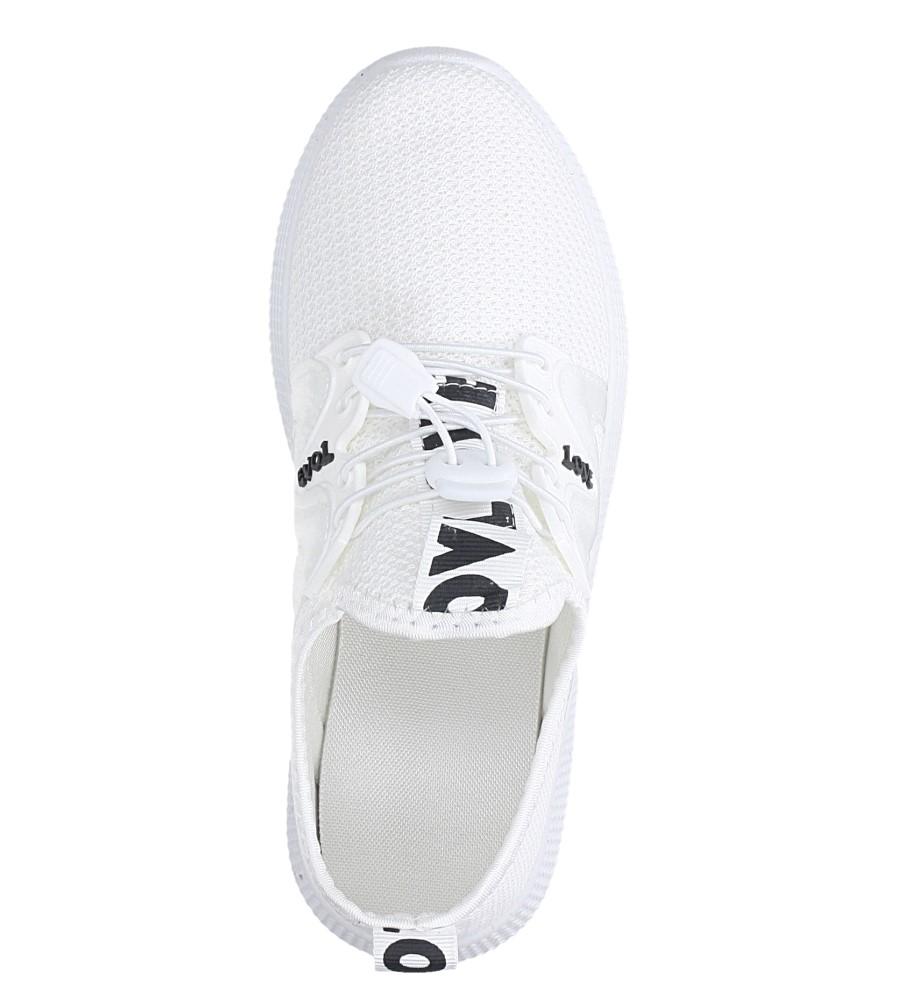 Białe buty sportowe sznurowane Casu 122A kolor biały