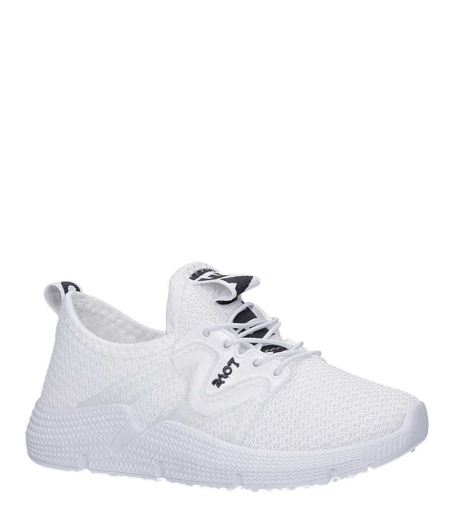 Białe buty sportowe sznurowane Casu 122B