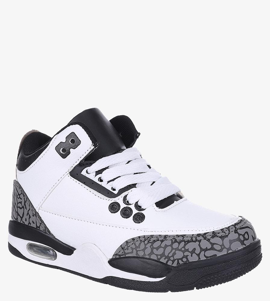 Białe buty sportowe sznurowane Casu 201C/WG biały
