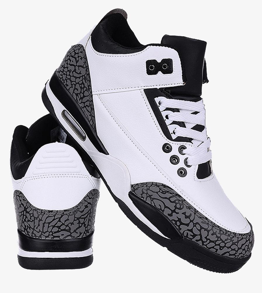 Białe buty sportowe sznurowane Casu 201C/WG5 wysokosc_platformy 2 cm