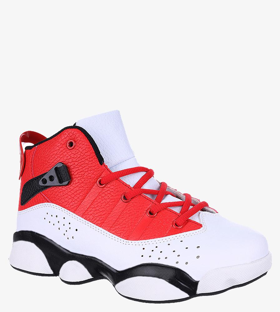 Białe buty sportowe sznurowane Casu 201D/WR1 biały