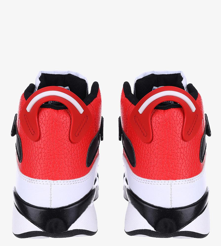 Białe buty sportowe sznurowane Casu 201D/WR1 kolor biały, czerwony