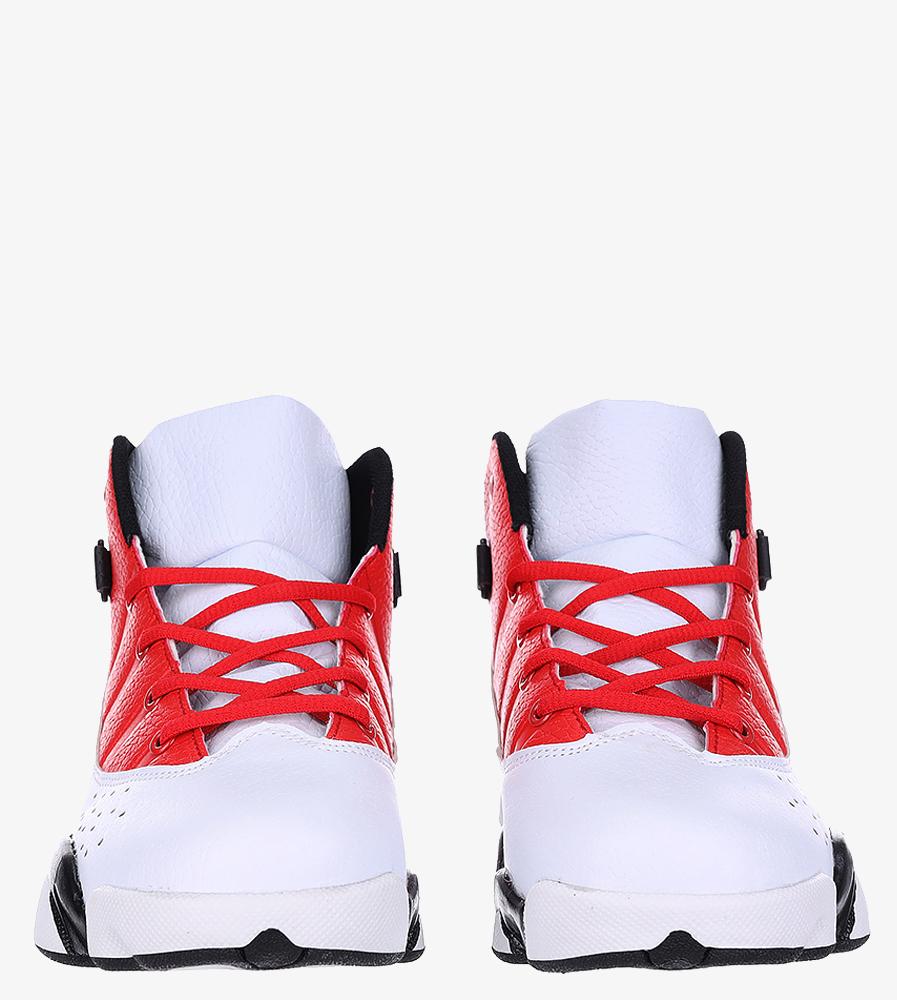 Białe buty sportowe sznurowane Casu 201D/WR1 wys_calkowita_buta 15 cm