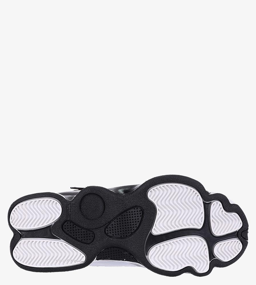 Białe buty sportowe sznurowane Casu 201D/WR1 wierzch skóra ekologiczna