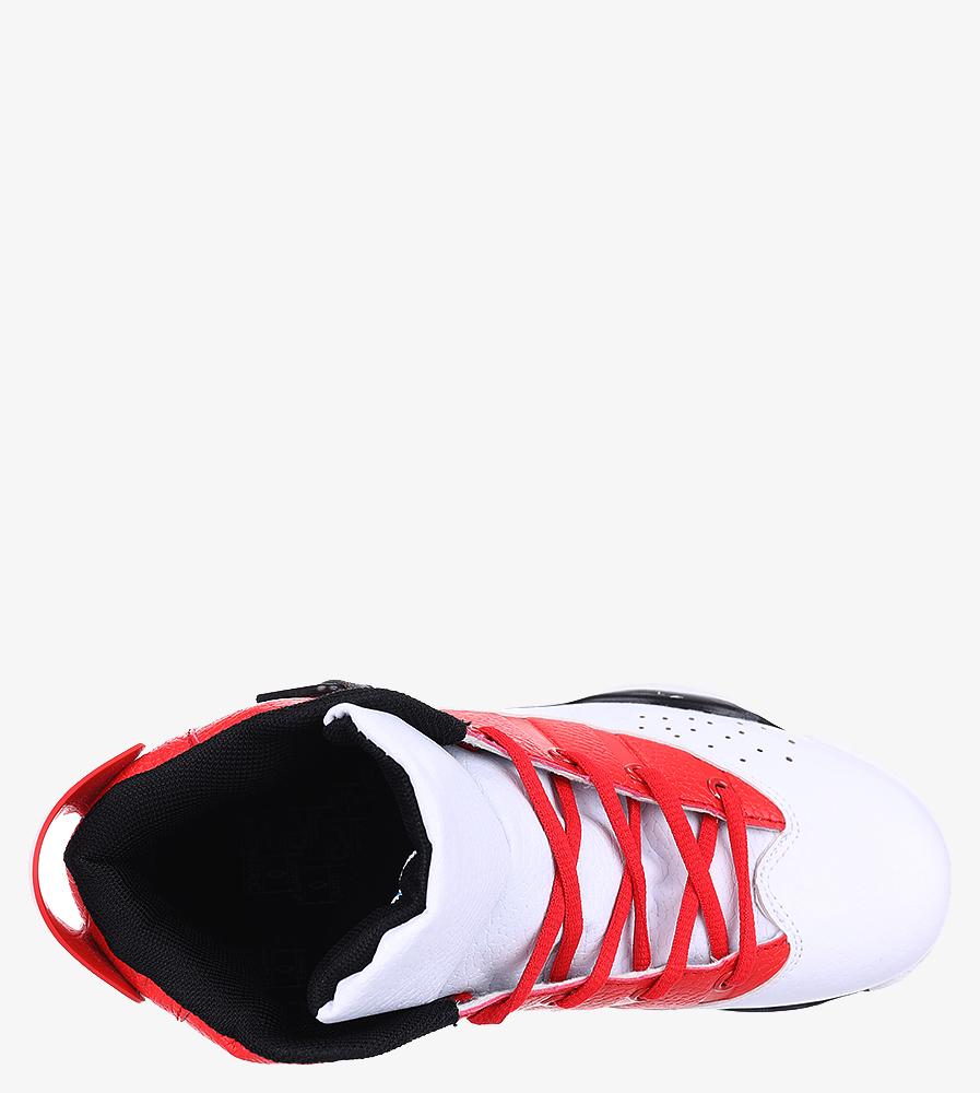 Białe buty sportowe sznurowane Casu 201D/WR1 wnetrze materiał