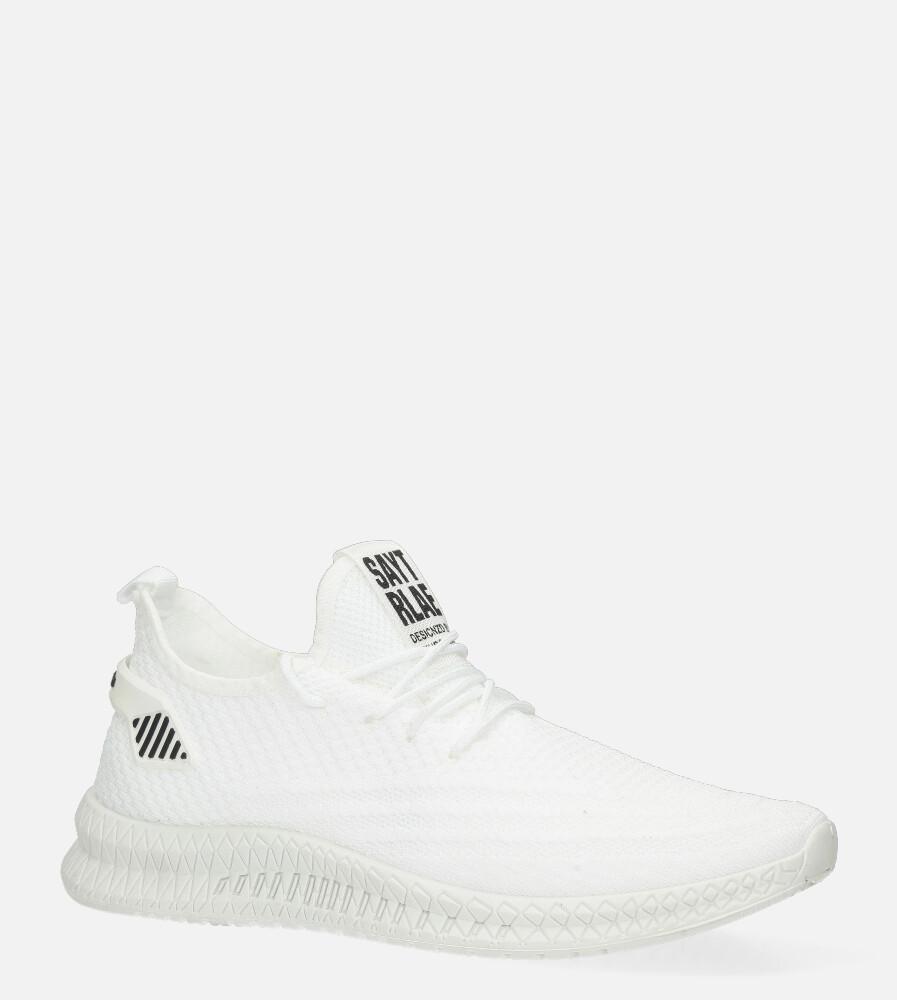 Białe buty sportowe sznurowane Casu 20A11/W biały