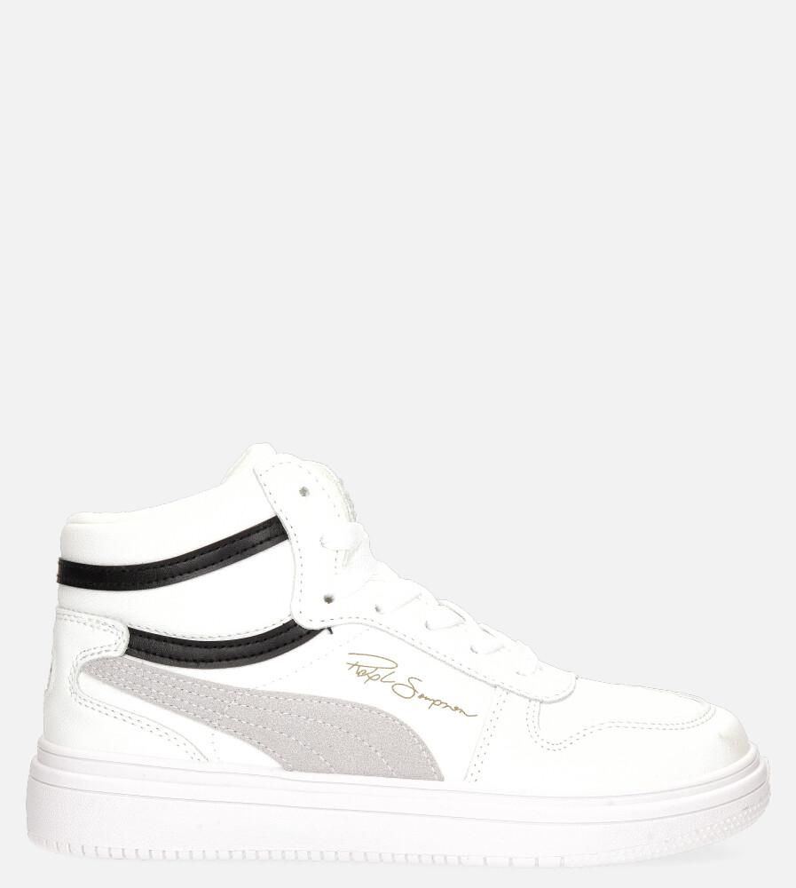 Białe buty sportowe sznurowane Casu 20X6/M