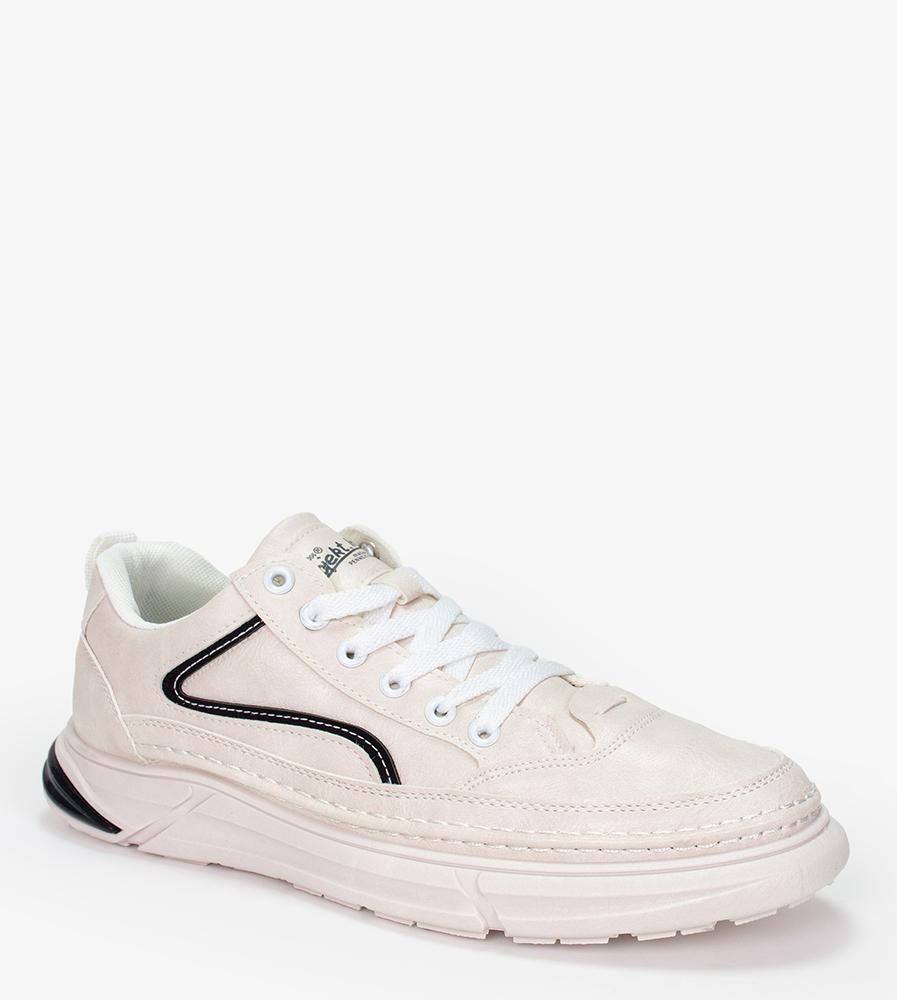 Białe buty sportowe sznurowane Casu 21A5/W biały