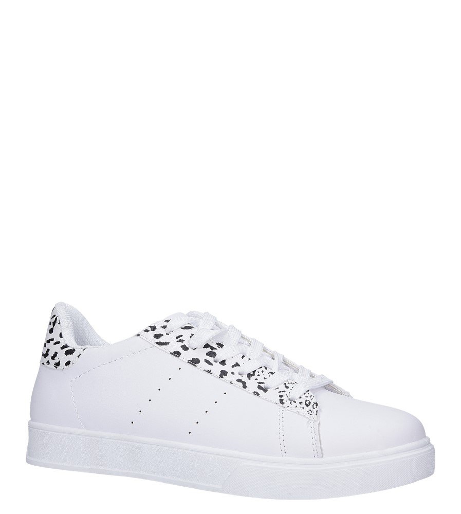 Białe buty sportowe sznurowane Casu 7-K685A