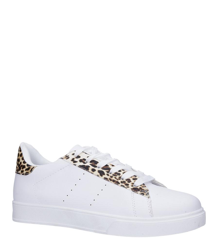 Białe buty sportowe sznurowane Casu 7-K685B