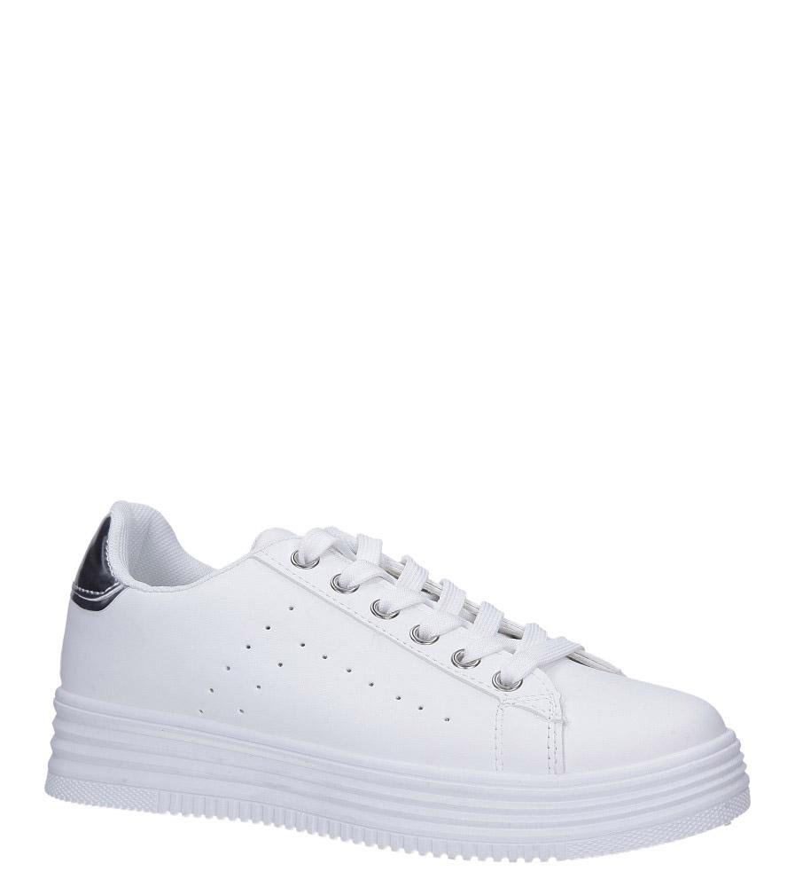 Białe buty sportowe sznurowane Casu BK-52 biały