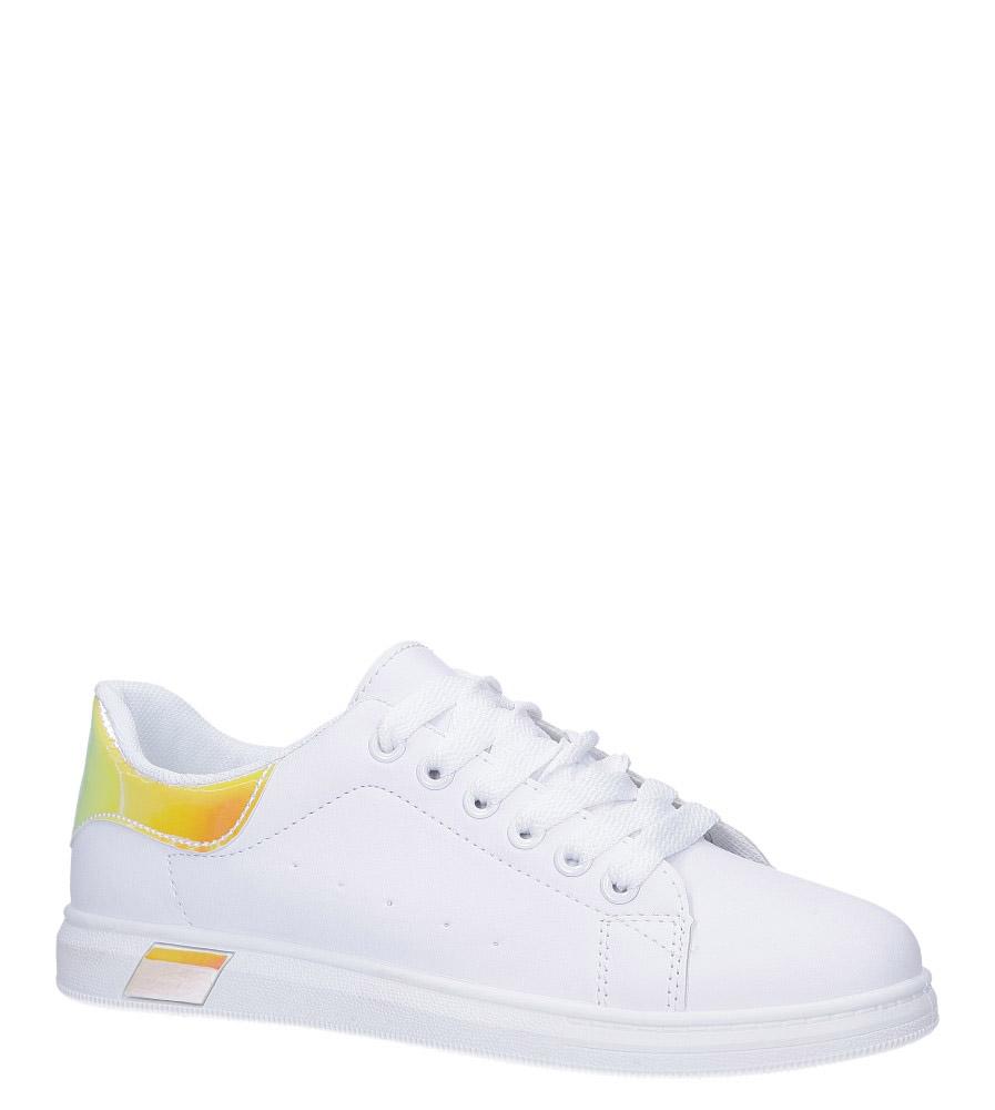 Białe buty sportowe sznurowane Casu BL147P