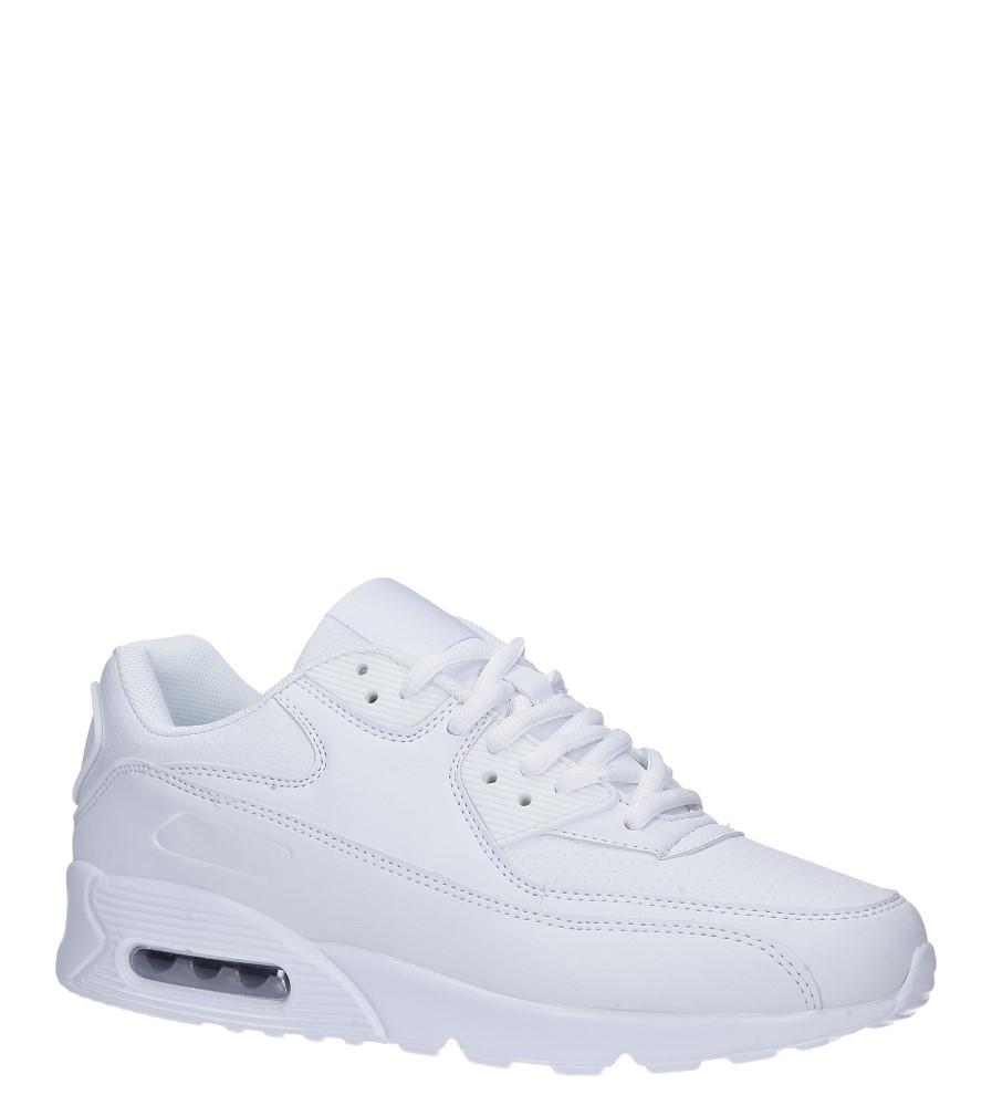 Białe buty sportowe sznurowane Casu C66 biały