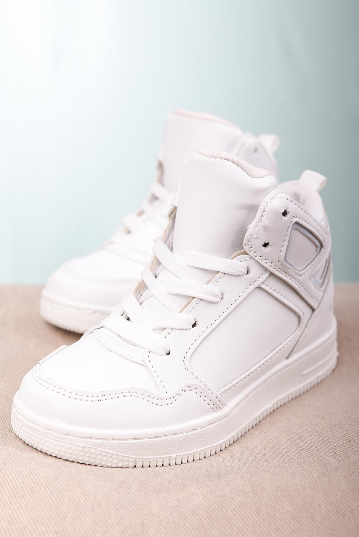 Białe buty sportowe sznurowane Casu C917 producent Casu