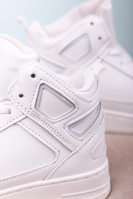 Białe buty sportowe sznurowane Casu C917 model C917