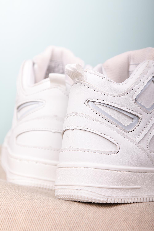 Białe buty sportowe sznurowane Casu C917 sezon Całoroczny