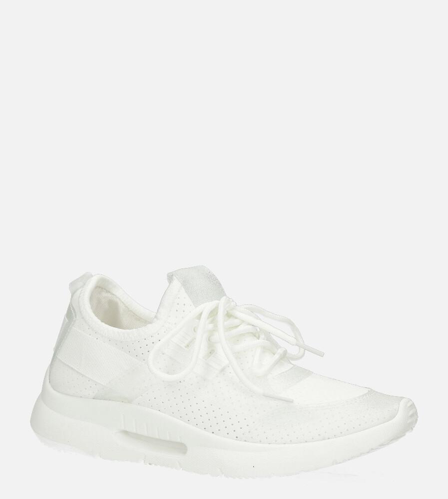 Białe buty sportowe sznurowane Casu DS12001-2 biały