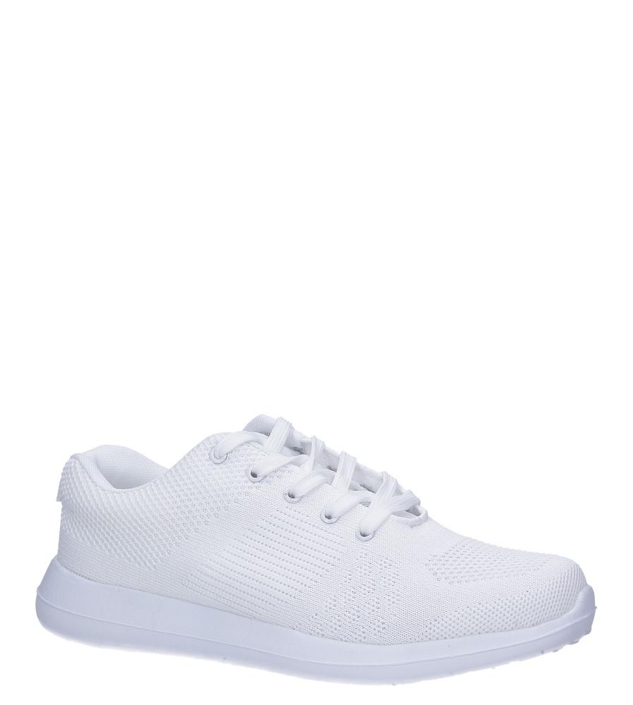 Białe buty sportowe sznurowane Casu F6-12