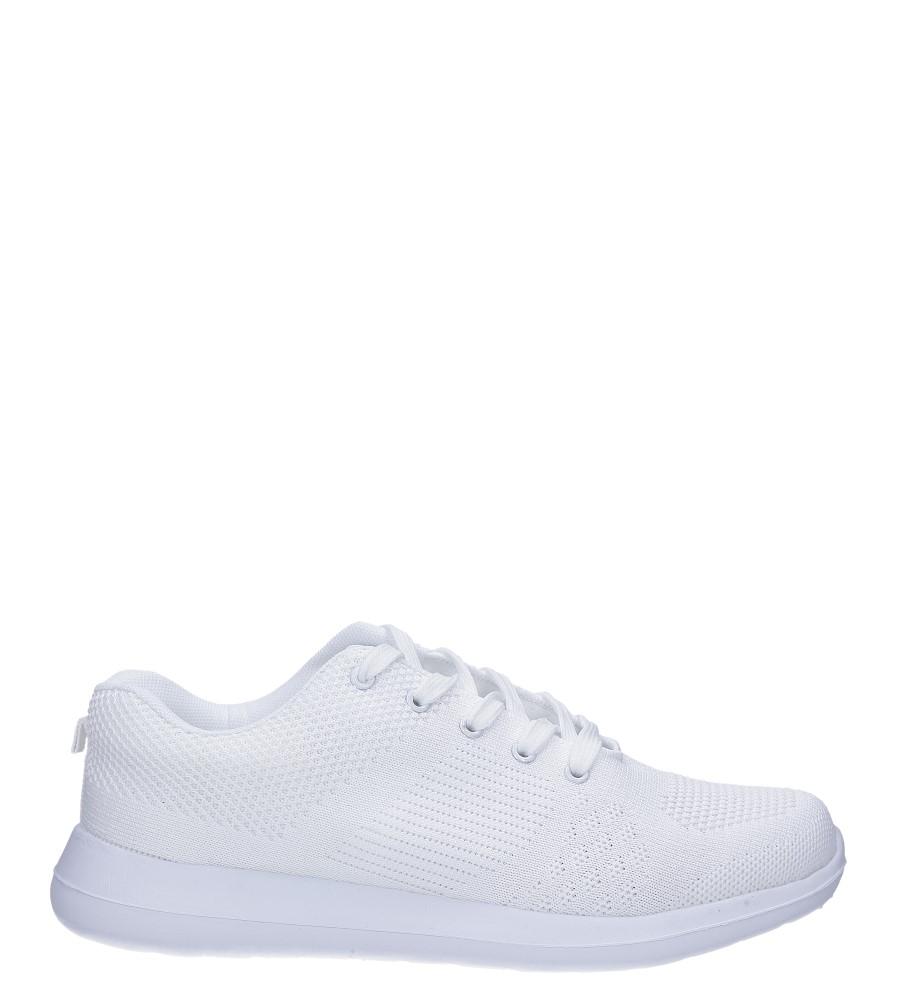 Białe buty sportowe sznurowane Casu F6-12 model F6-12